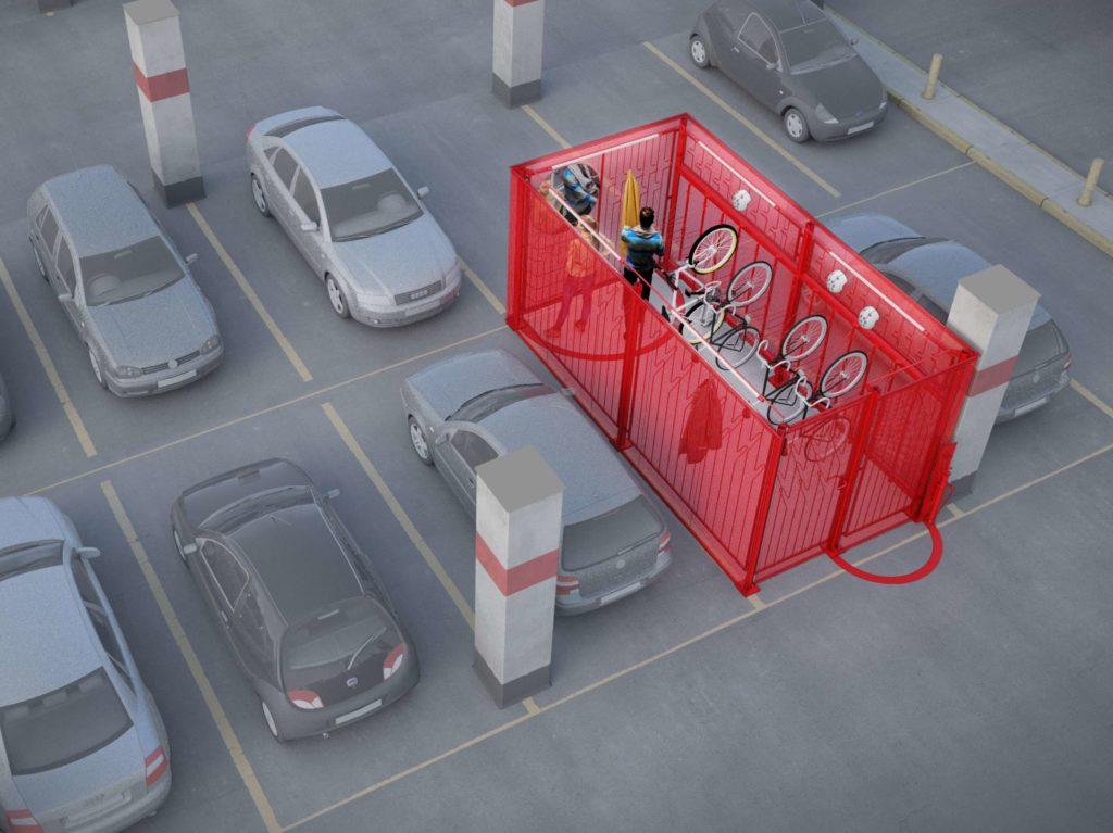 Modułowy parking rowerowy