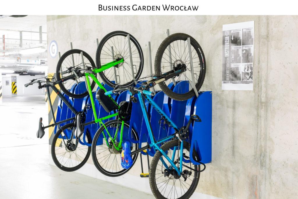parking rowerowy business garden wroclaw