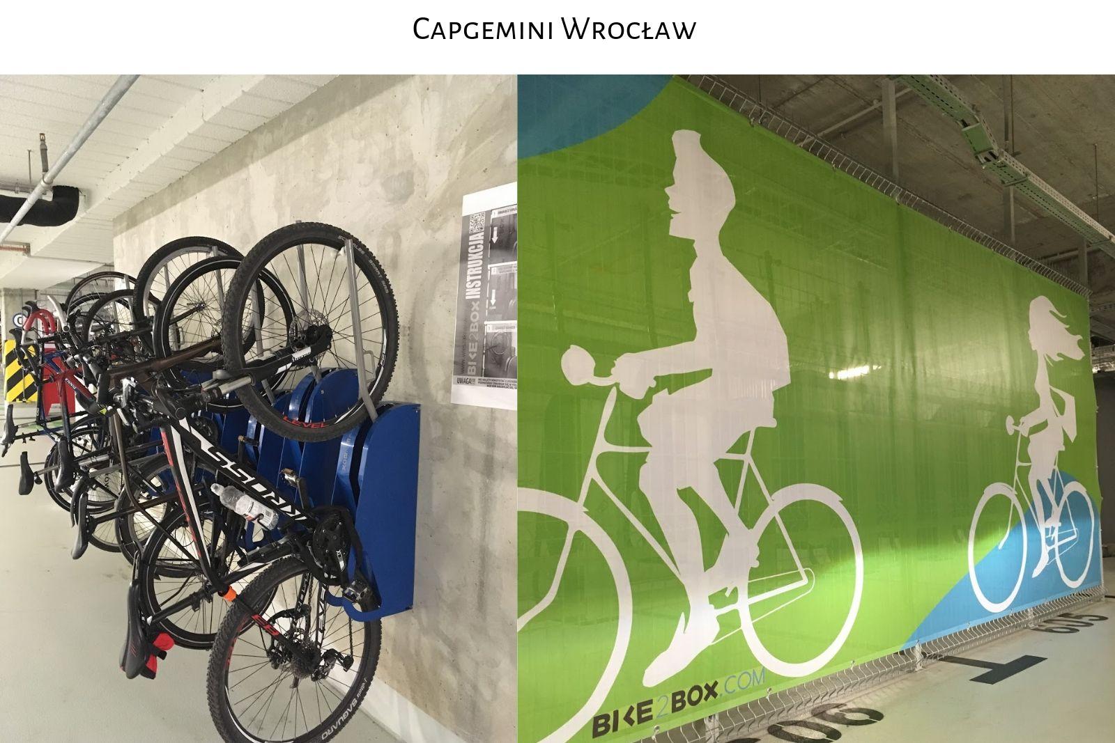 Parking rowerowy Capgemini Wrocław